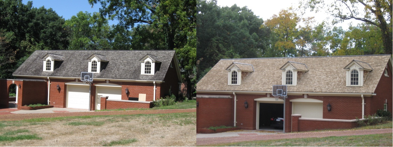 10 35th St. Garage Front Before & After